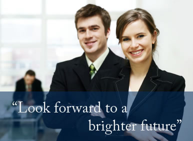 look forward to a brighter future